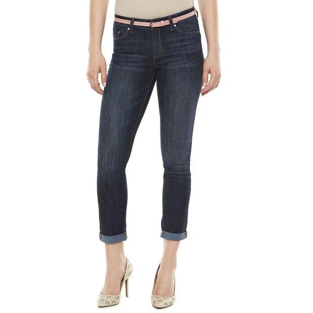 Lauren Conrad Cuffed Skinny Jeans
