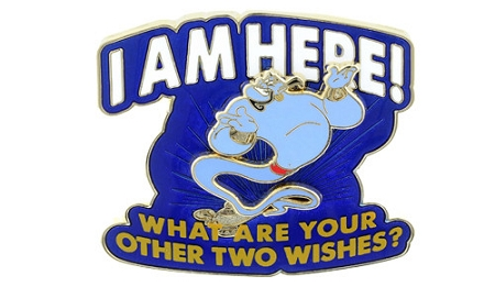 Genie Two Wishes Pin