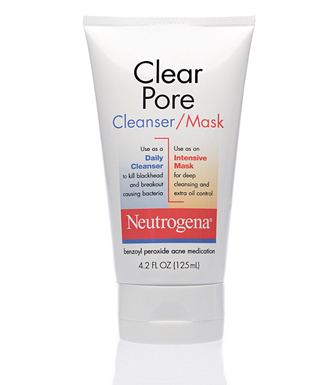 Neutrogena Clear Pore Cleanser:Mask