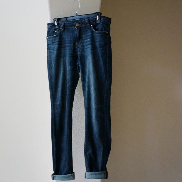 Cuffed Blue Jeans