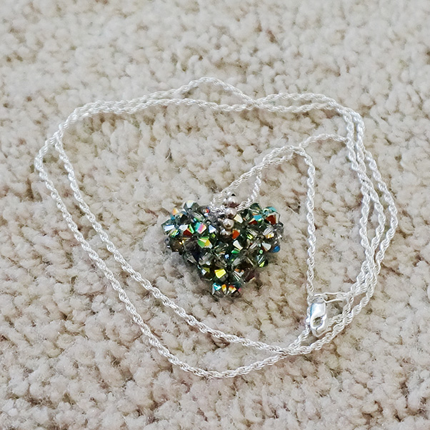 Gray Heart Necklace