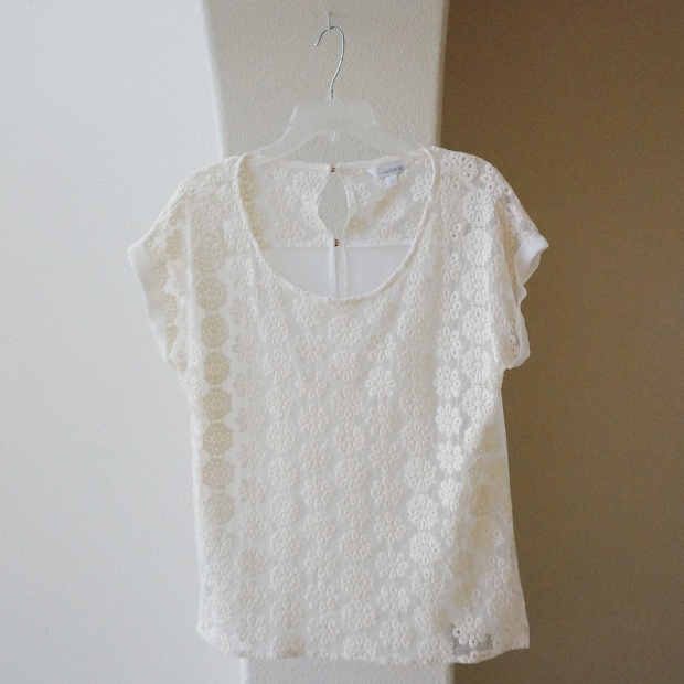 White Flower Blouse