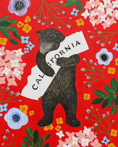Galvin, Annie, and Eric Rewitzer. I Love You California. Web. 4 Dec. 2015. http://www.3fishstudios.com/collections/digital-prints/products/i-love-you-california-red-print.